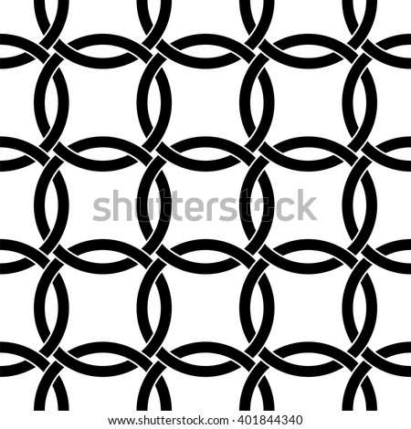 Interlocking circles pattern, Celtic pattern vector