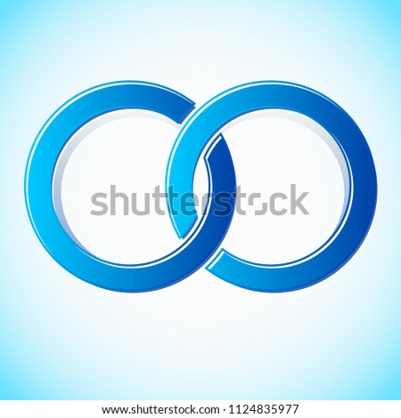 Interlocking circles stylized icon / logo (Easy to change colors)