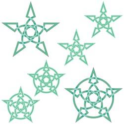 Interlocking star design in Celtic style