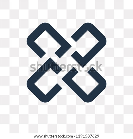 Interlocking vector icon isolated on transparent background, Interlocking transparency concept can be used web and mobile