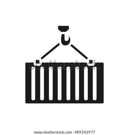Intermodal container simple icon. freight container monochrome illustration