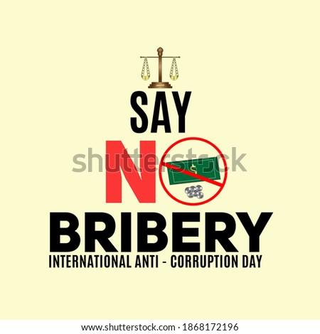 international anti - corruption day concept. web banner for anti - corruption day. illustration vector Foto stock ©