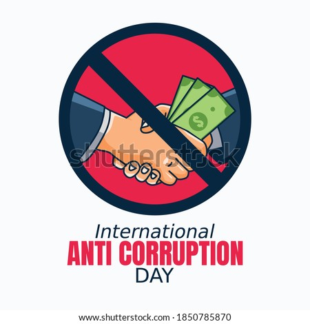 International Anti Corruption Day Vector Illustration. Suitable for greeting card poster and banner. ストックフォト ©