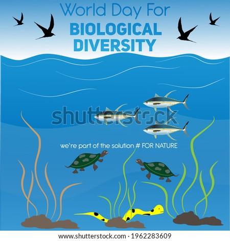 international day for biological diversity concept. illustration vector Foto stock ©