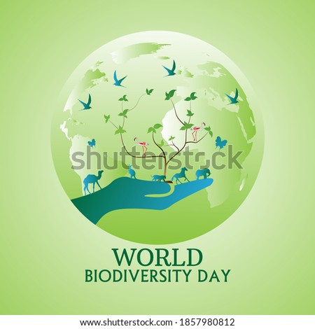 International Day for Biological Diversity Vector Illustration. Suitable for Greeting Card, Poster and Banner Foto stock ©