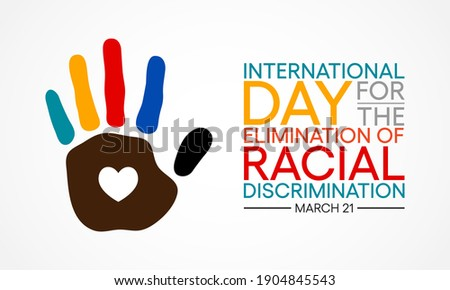 International Day for the Elimination of Racial Discrimination is observed annually on 21st March. Vector illustration. Stockfoto ©