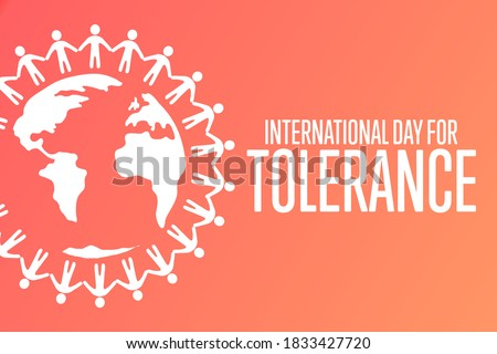 International Day for Tolerance. November 16. Holiday concept. Template for background, banner, card, poster with text inscription. Vector EPS10 illustration Stock fotó ©
