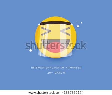 International day of happiness design template. Foto stock ©