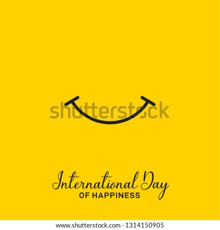 International Day of Happiness, World Happiness Day Vector Design