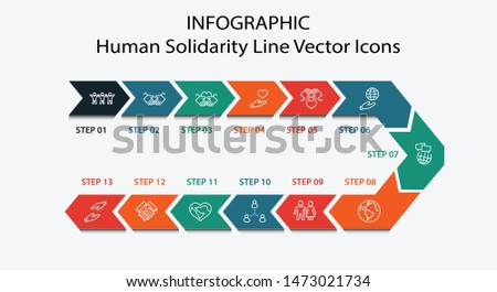 International Day of Human Solidarity Line Vector Icons Set. Contains such Icons as Handshake, Heart, planet Earth, helping Hand, People and more. Editable Stroke. 32x32 Pixel Perfect.