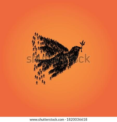 International Day of Non-Violence, Non violence Banner Theme. Peace Concept Designs. The International Day of Non-Violence is observed on 2 October, the birthday of Mahatma Gandhi.