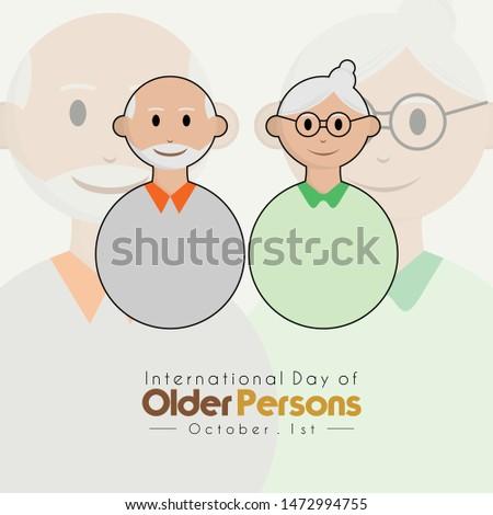 International day of older persons, grandpa and grandma with grandpa and grandma background