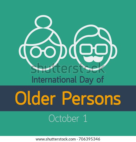 International Day of Older Persons vector icon illustration
