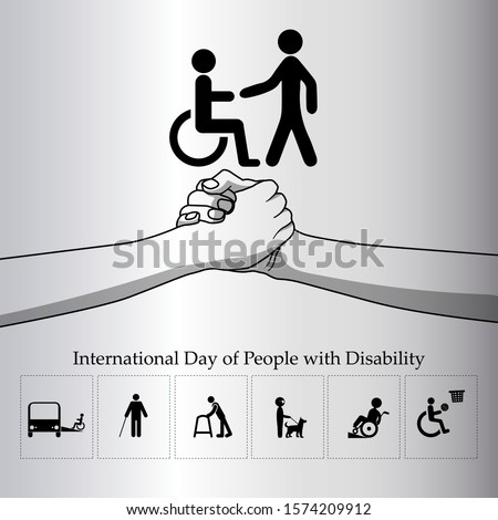 International day of people with disability. 3rd December Symbol world disability.