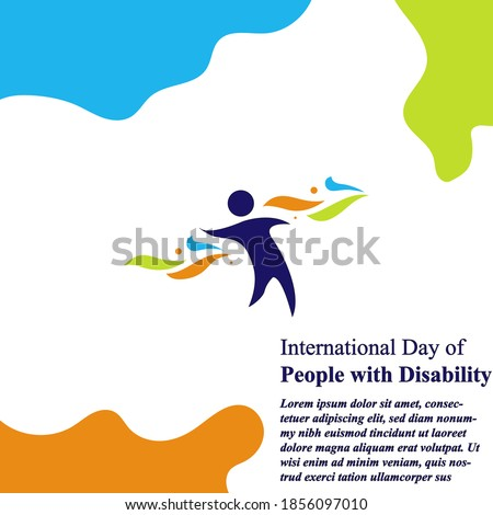 International day of person with disability vektor eps 10 Stock foto ©