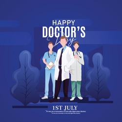 international doctors day-Vector illustration of doctor.Greeting card in a flat design. Happy Doctor`s Day. - Vector