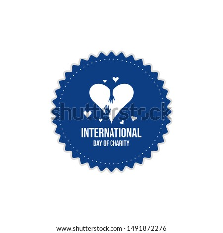 International donations on the international day of charity vector banner and poster image