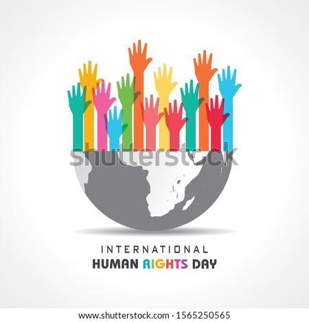 International Human Rights Day Stock Vector-10 December Сток-фото ©