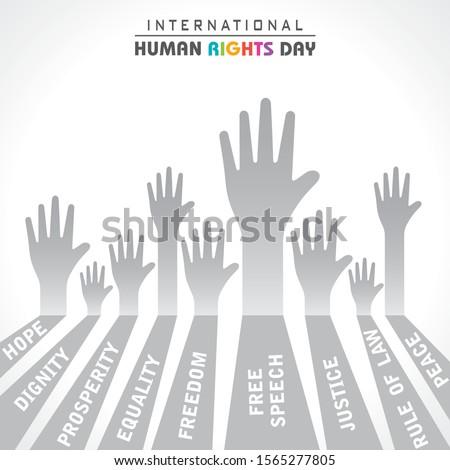 International Human Rights Day Stock Vector -10 December Сток-фото ©