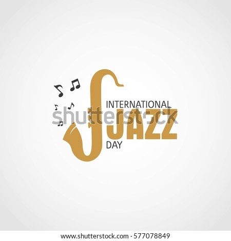 International Jazz Day Vector Illustration.