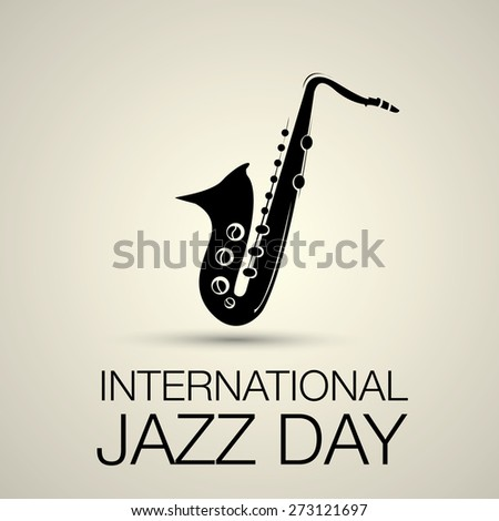 International jazz day vector illustration with saxophone