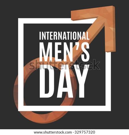 international men s day poster