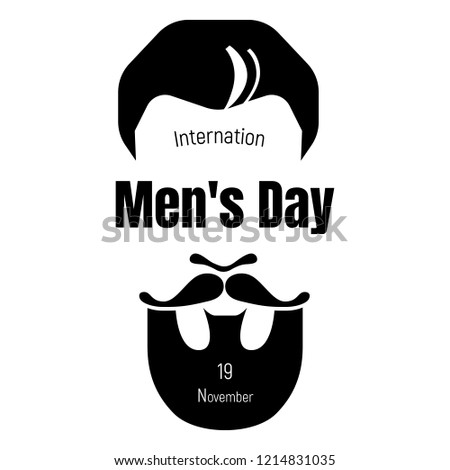 International mens day icon. Simple illustration of international mens day vector icon for web design isolated on white background