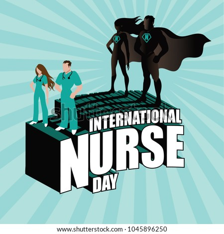 International Nurse Day design with superhero nurses. EPS10 vector illustration.