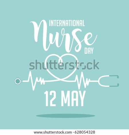 International Nurse Day icon design. EPS10 vector illustration.