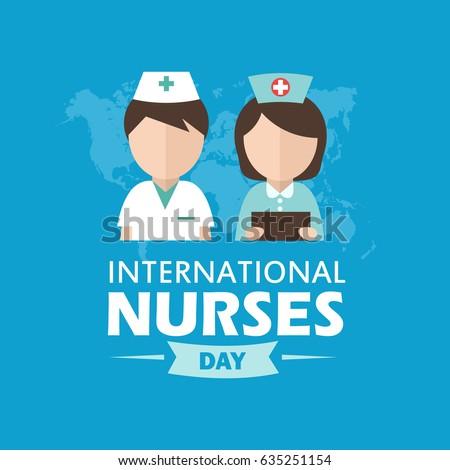 international nurse day illustration modern