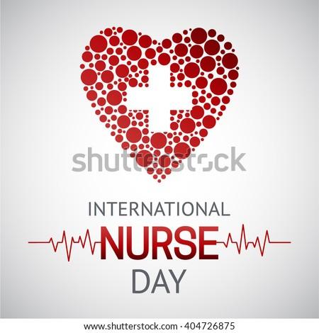 International nurse day template. Medical Vector illustration.