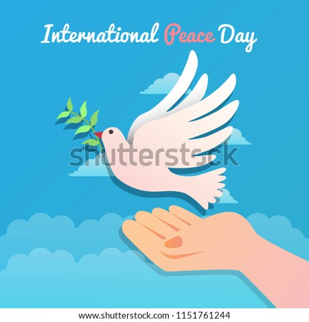 International Peace Day Cartoon Illustration