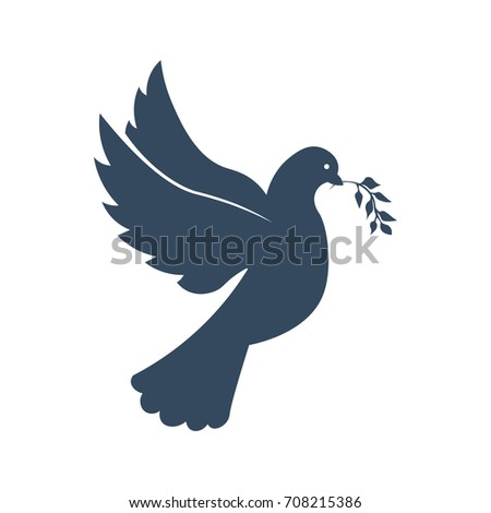 International Peace Day logo or emblem. 21 September. Vector illustration