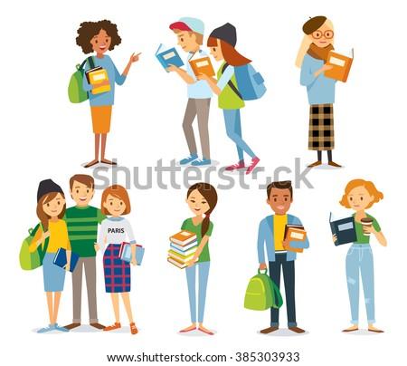 international students read the books