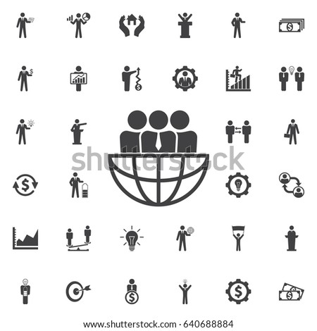 International Team work icon. Business icons set