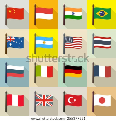 International theme background with flags #255377881