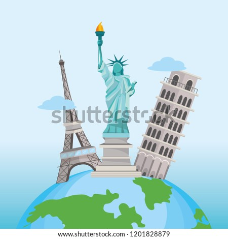 international tourist travel and global destination