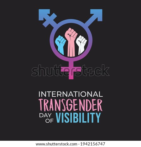 International Transgender Day of Visibility abstract background Foto stock ©