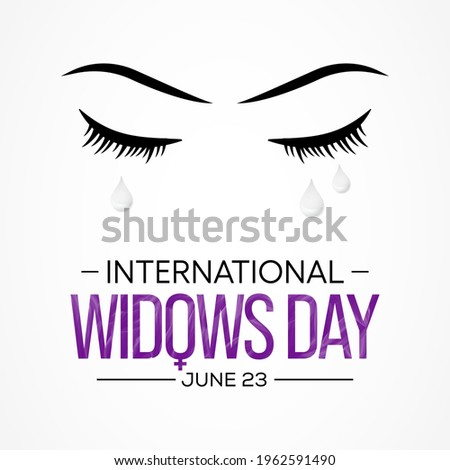 International Widows day is observed every year on June 23, it is a day of action to address the poverty and injustice faced by millions of widows and their dependents in many countries. Vector art. Сток-фото ©