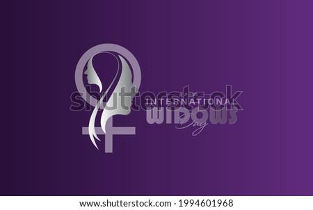 International Widows' Day on june 23. Widows Day Poster. Сток-фото ©