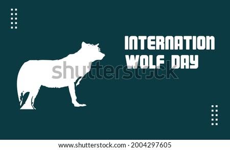international wolf day vector