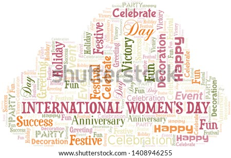 International Women's Day Word Cloud. Word cloud Made With Text.