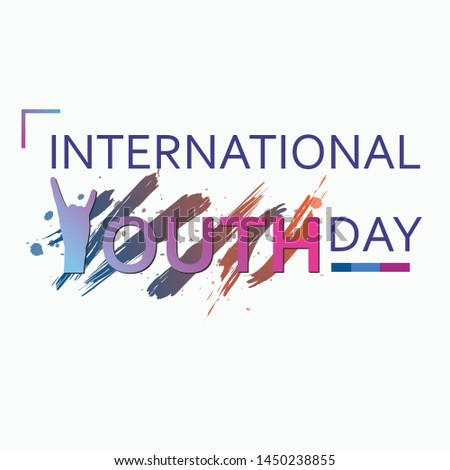 International youth day 2019. Can be fully edited and used in any project.