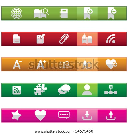 Internet and Blogs Icon Set