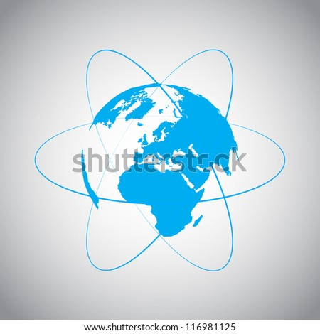 Internet and World vector symbol - stock vector