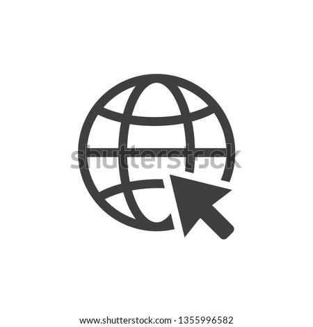 internet arrow icon vector eps 10