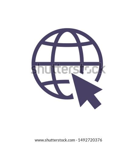 Internet black icon.Go to web sign. Internet symbol.