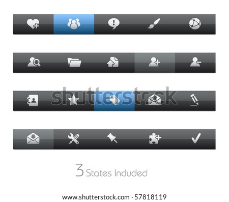 Internet & Blog // Blackbar Series +++ It includes 3 buttons states in different layers. +++