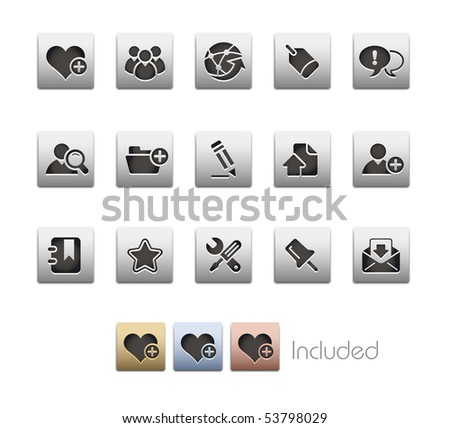 Internet & Blog // Metallic Series - It includes 4 color versions for each icon in a different layer.