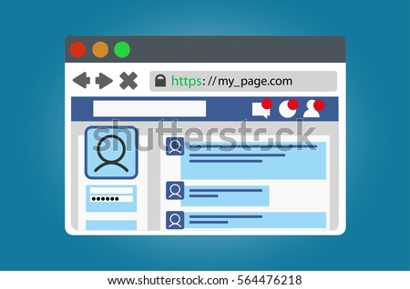 internet browser window with an